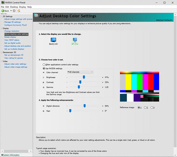 windows gamma calibration won't stick solved - windows 10 forums