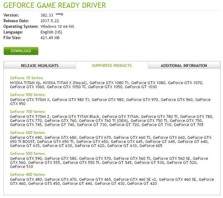 nvidia geforce gt 720 driver xp