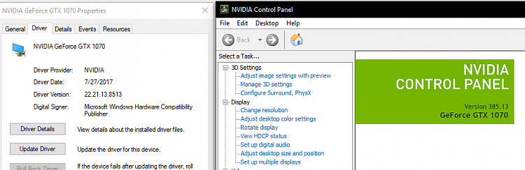 nvidia graphics driver (windows 10 v1803)
