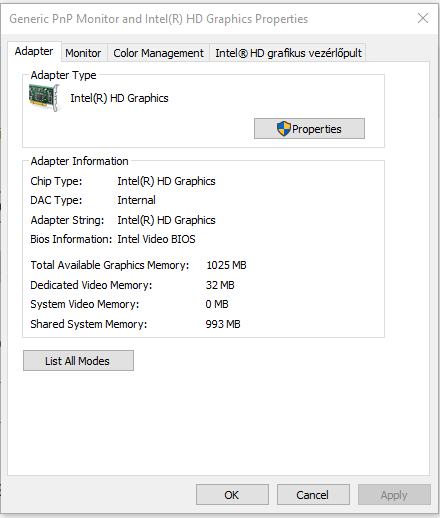 Graphics card ram memory size problem  Solved - Windows 10 Forums