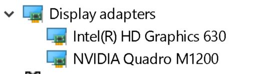 Which Display Driver To Install First Intel 630 or Quadro