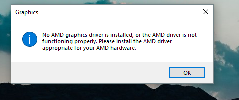 AMD Graphics not getting detected  - Windows 10 Forums