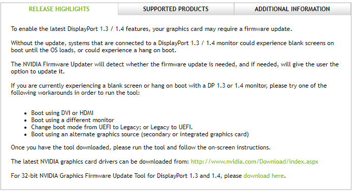 NVIDIA Firmware Update Utility (Version 5 469 0) - Windows