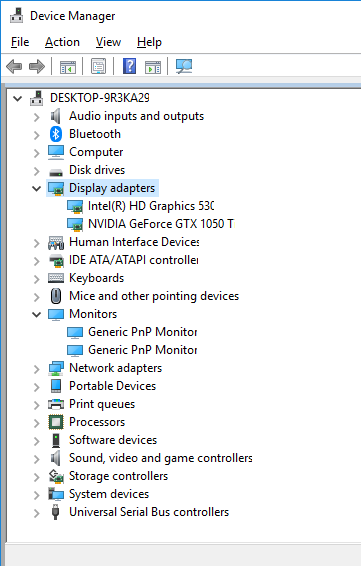 How do I add Monitor for Extended Display: Only one VGA Port-image.png