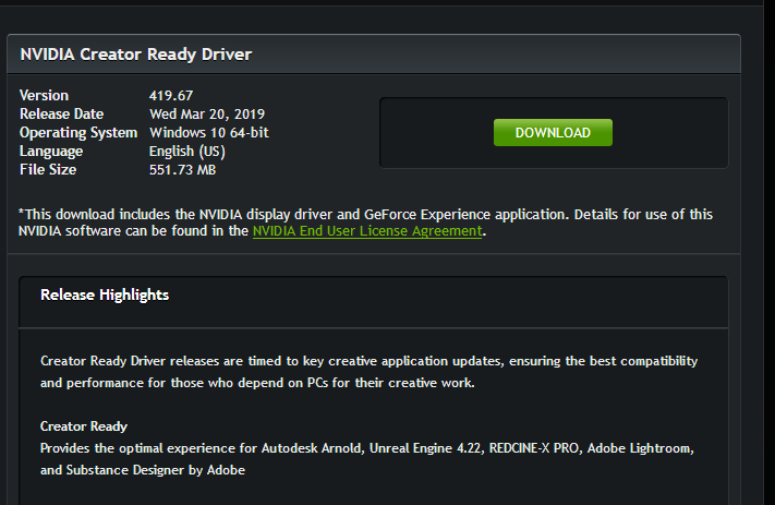 Latest NVIDIA GeForce Graphics Drivers for Windows 10 - Page 154