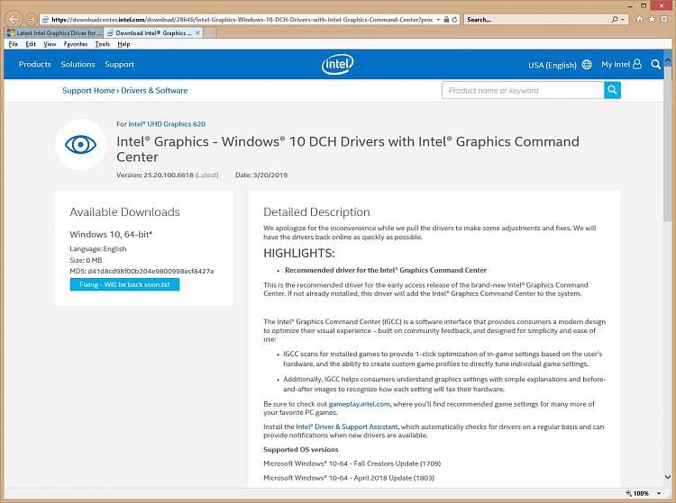 Latest Intel Graphics Driver for Windows 10 - Page 20 - Windows 10