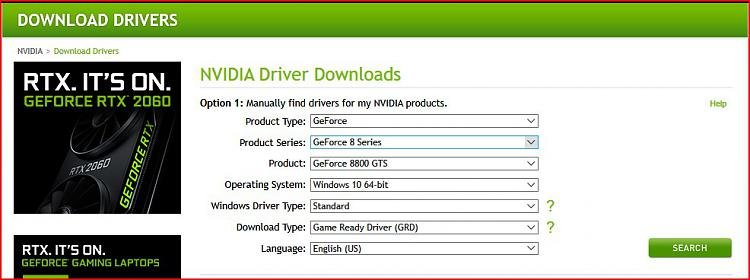 nvidia graphics card windows 10 64 bit
