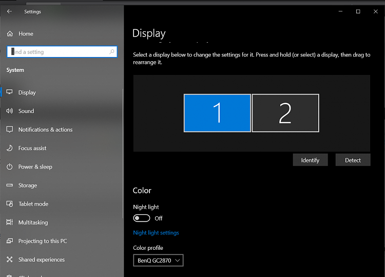 Not finding my 2nd display in Nvidia control panel