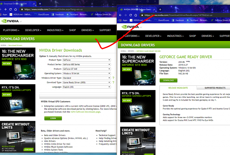 Latest NVIDIA GeForce Graphics Drivers for Windows 10 - Page 190