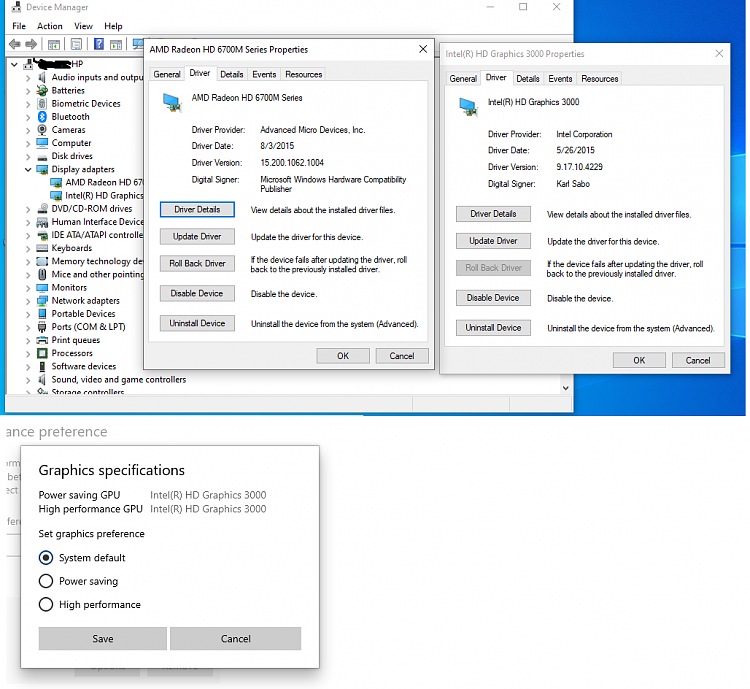 Intel HD Graphics 3000+AMD 7690M XT driver for W10,no such one,help-after157amdinstalltion.png