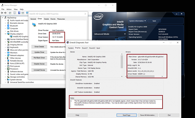 Intel HD Graphics 3000+AMD 7690M XT driver for W10,no such one,help-2.png