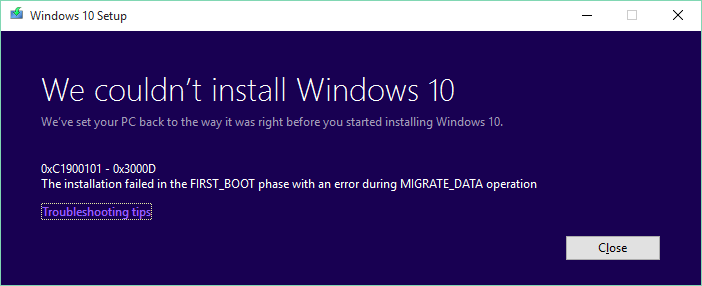 Click image for larger version.  Name:Windows10_update_Failed_FIRST_BOOT.PNG Views:19 Size:10.5 KB ID:100960