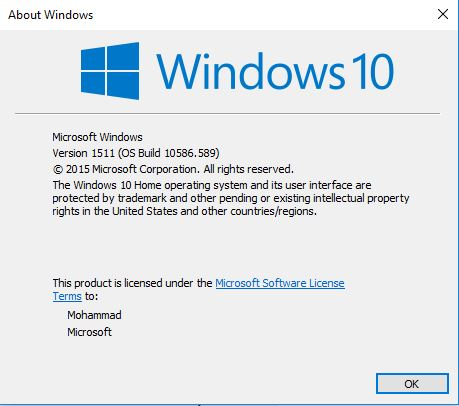 Click image for larger version.  Name:Windows 10 Version.JPG Views:55 Size:35.8 KB ID:102239