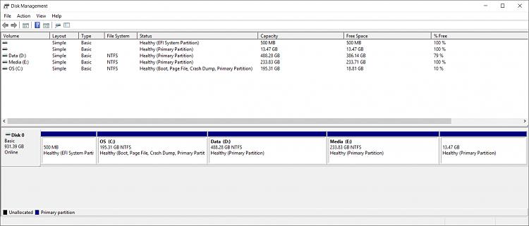 Factory Image Restore Option Missing After BCDEDIT Windows