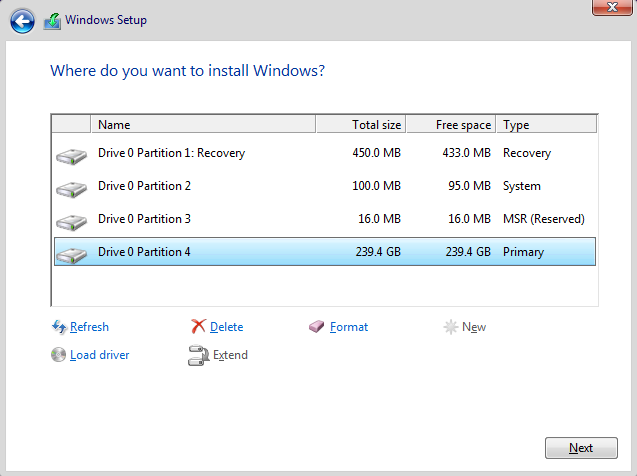 how to remove efi partition windows 10