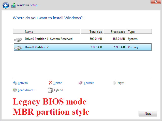 Click image for larger version.  Name:Legacy BIOS mode - MBR partition style.png Views:127 Size:31.2 KB ID:114642