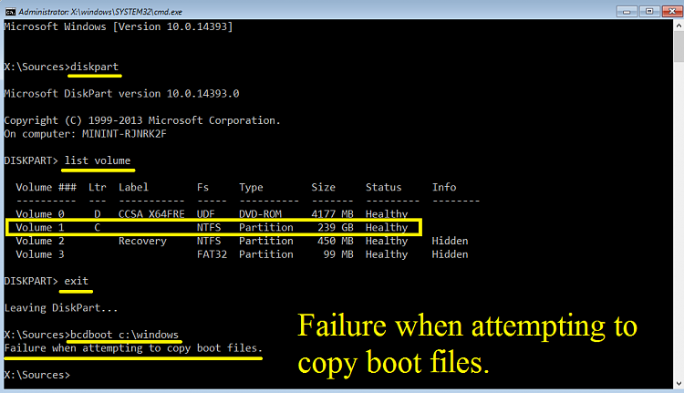 Click image for larger version.  Name:Failure when attempting to copy boot files.png Views:9 Size:45.2 KB ID:115135