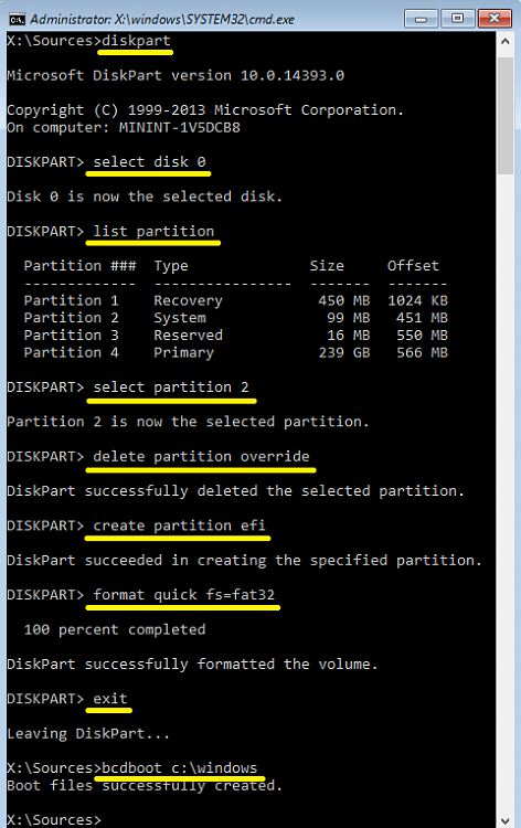 Click image for larger version.  Name:Delete and recreate the EFI System partition.png Views:71 Size:41.3 KB ID:115328