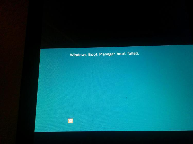 Can't boot my Tablet  Windows Boot Manager boot failed  - Windows 10