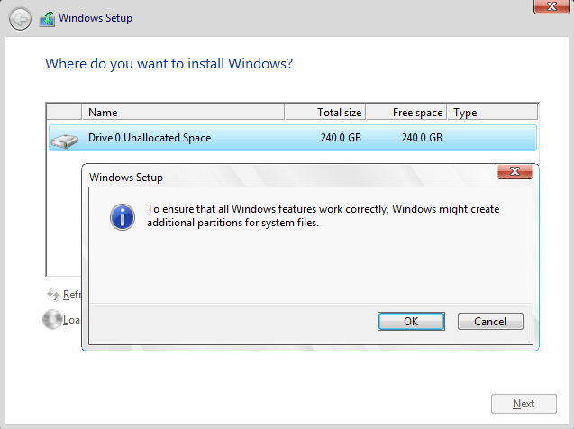 Delete Or Format Partition During Clean Install Windows