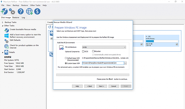 How to create the boot disk by using Macrium Free? - Windows
