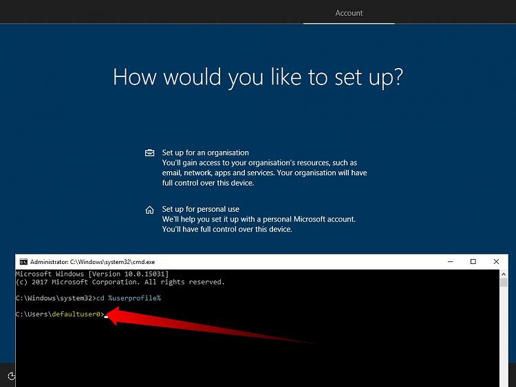 Windows 10 clean installation, weird username I did not