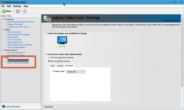 Windows color calibration tool and resetting calibration