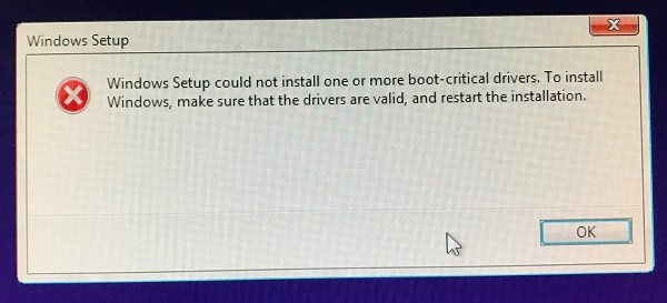 Windows 10 install - (USB UEFI) blue/purple screen and won't