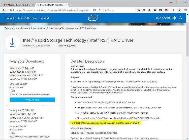 WIndows Reinstall Switch From RAID to AHCI - Windows 10 Forums