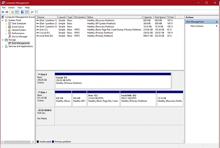 migrating windows 10 to ssd