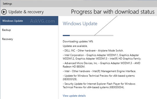 how to stop a windows 10 update in progress