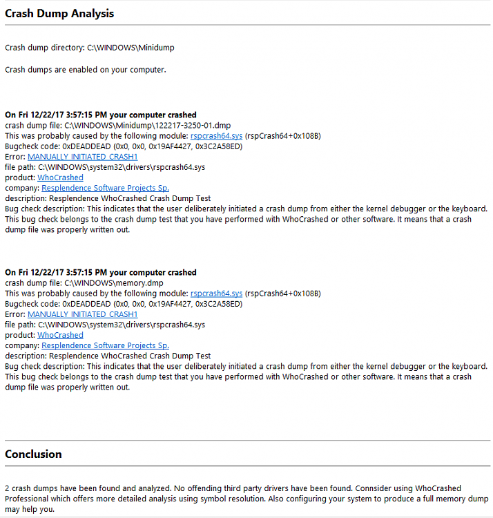 Click image for larger version.  Name:WhocrashedResults.PNG Views:1 Size:49.6 KB ID:169280