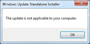 windows 10 standalone installer not applicable