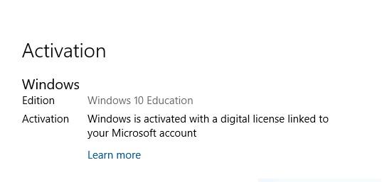 windows education license