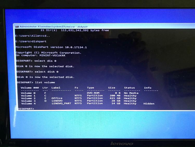 Windows 10: Update 1803 failed - leaves machine unusable
