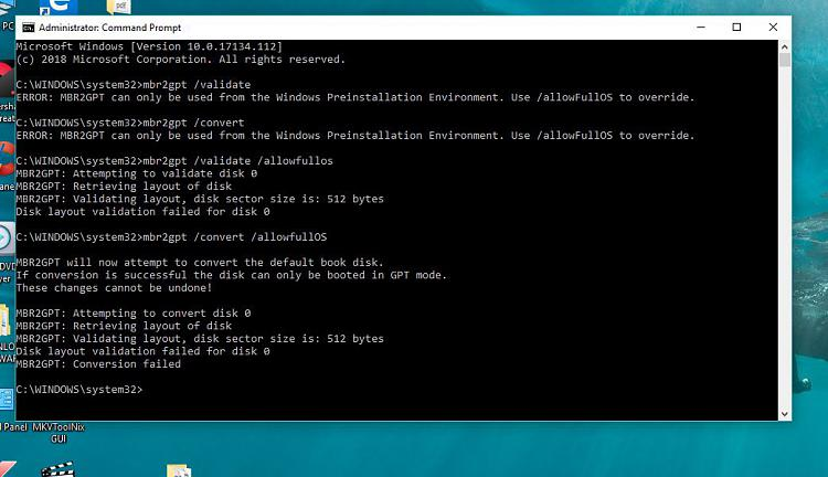 Click image for larger version.  Name:Conversiopn failed IN UEFI mode.JPG Views:3 Size:94.4 KB ID:193576
