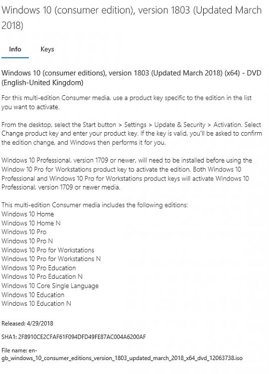 windows 10 education version 1803 iso