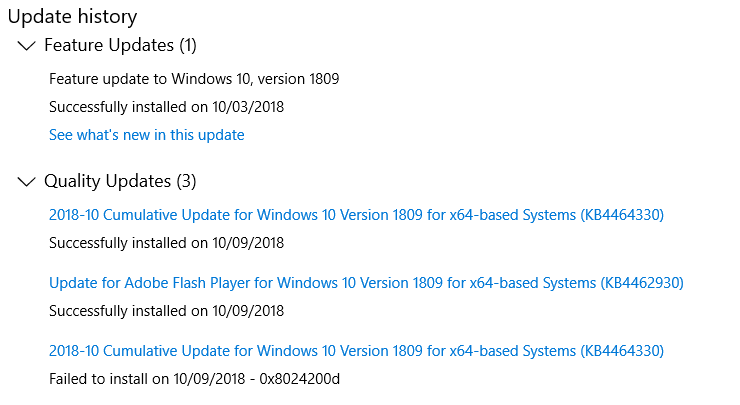 Windows 10 Update 1809 Issue-history.png