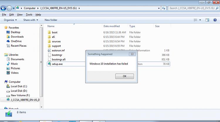 Windows 10 installation has failed  - Windows 10 Forums