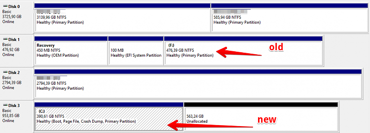 Windows 10 boots only from old SSD, EasyBCD shows logical