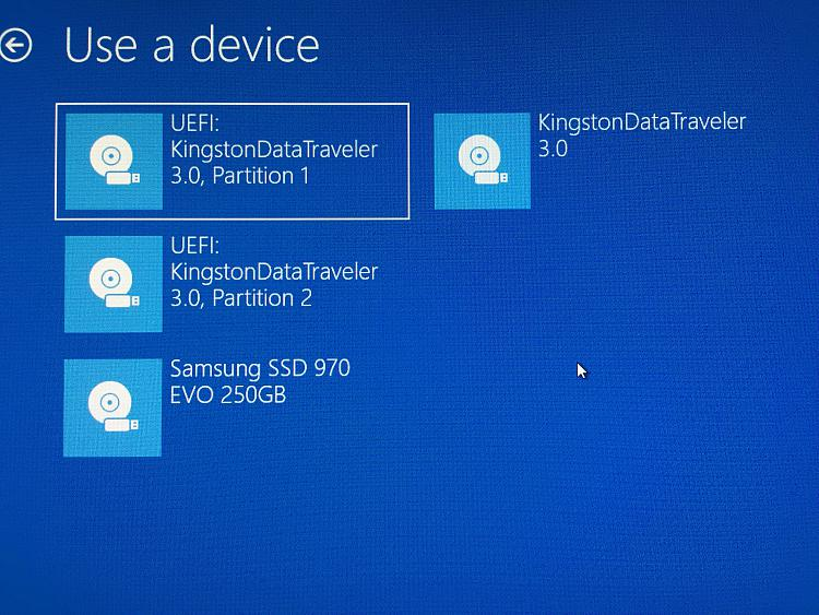 Windows 10 Bootable Usb Has 2 Uefi Patitions