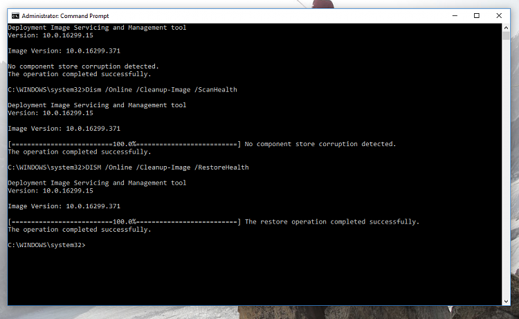 Can't Upgrade, Error 0x8007001F - 0x2006 and more, Stuck on 1709-dism-no-errors.png
