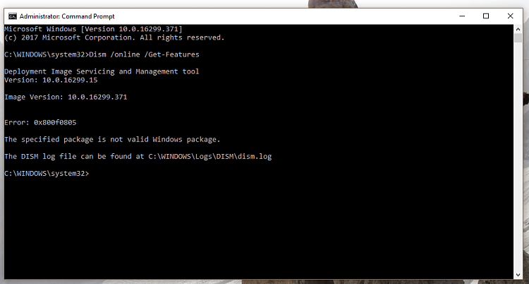 Can't Upgrade, Error 0x8007001F - 0x2006 and more, Stuck on 1709-dism-get-features-error.png