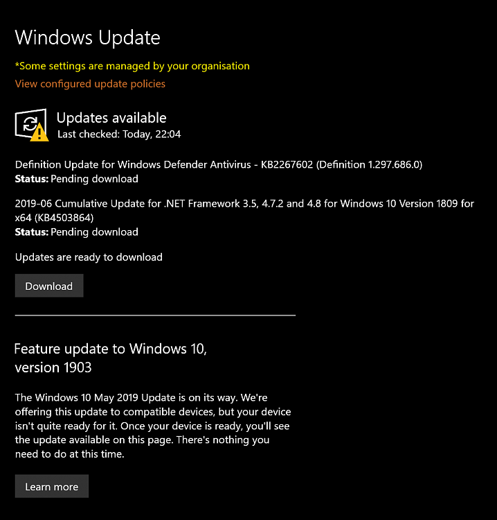 Device not ready to update to 1903 - Page 2 - Windows 10 Forums