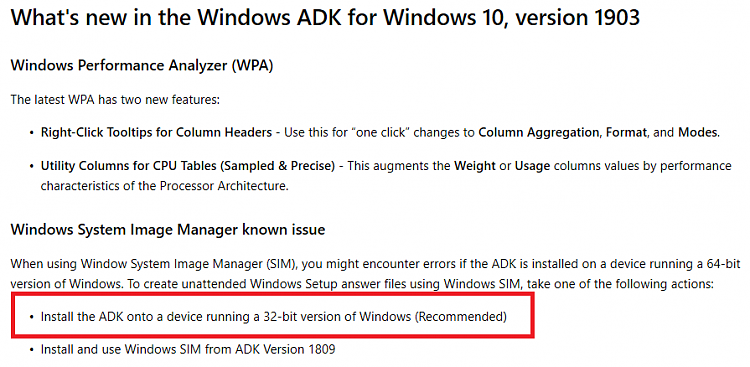 1903 ADK problem and workaround - Windows 10 Forums