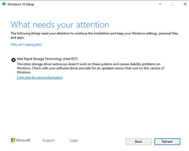 I updated RST drivers, still get 1903 Update error-image.png