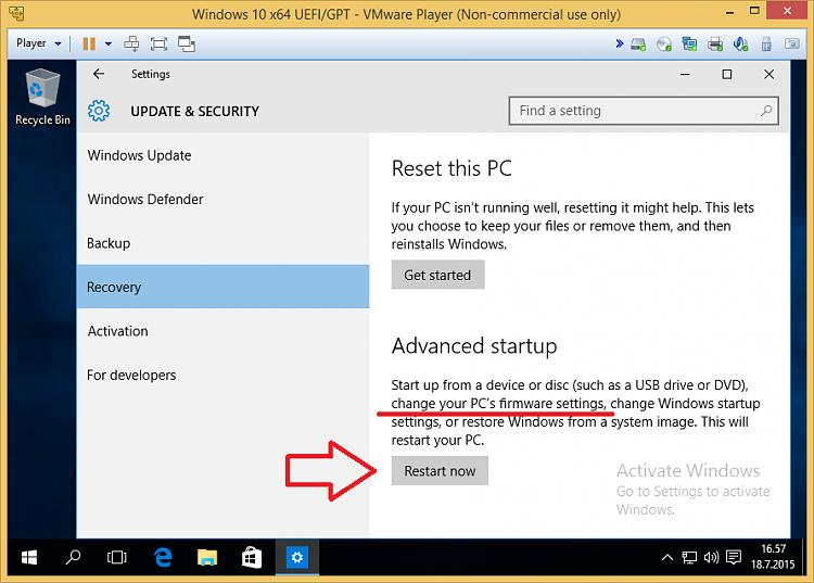 D T Changing Uefi Settings Firmware Settings on Windows 10 Pro Product Key