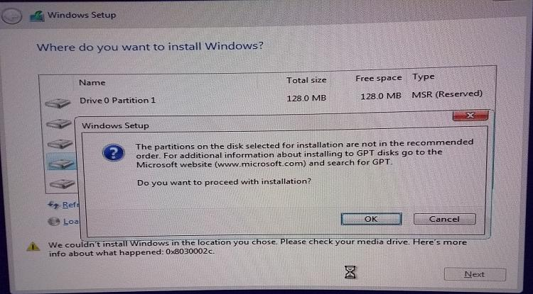 Installing Windows 10 on GPT disk, partitions not in correct order?-win10gpterror2.jpg