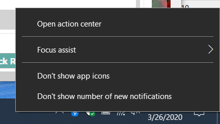 I cannot activate the Notifications Center icon-image.png