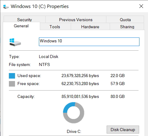 Which version of Win10? 32bit or 64bit on 32GB SSD-22-gb-used.jpg